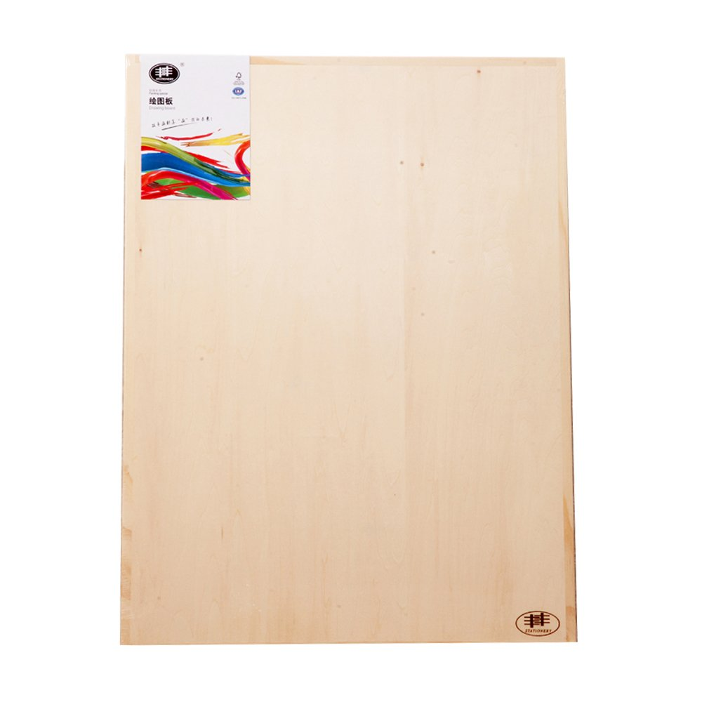 Kuyal Wood Drawing Board 18''x24'' Art Painting Panel Sketch Boards Fit for A2 Sized Paper by UODOO