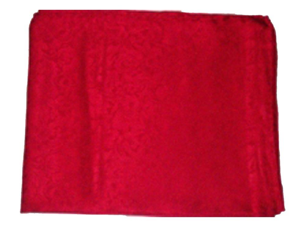 Jacquard Silk Scarf 34.5'' Red