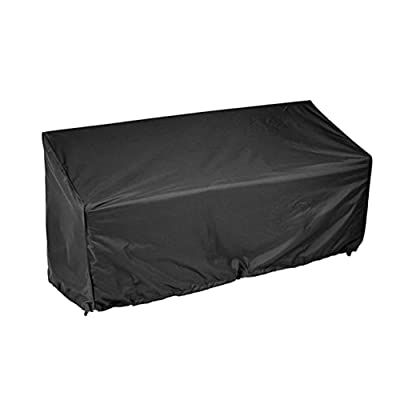 nago0 Bench Seat Cover - Waterproof Dustproof UV Resistantt Breathable Garden Bench Cover with Weatherproof Eyelets and Cord Lock Outdoor Seat Protector for Patio Furniture Garden: Kitchen & Dining