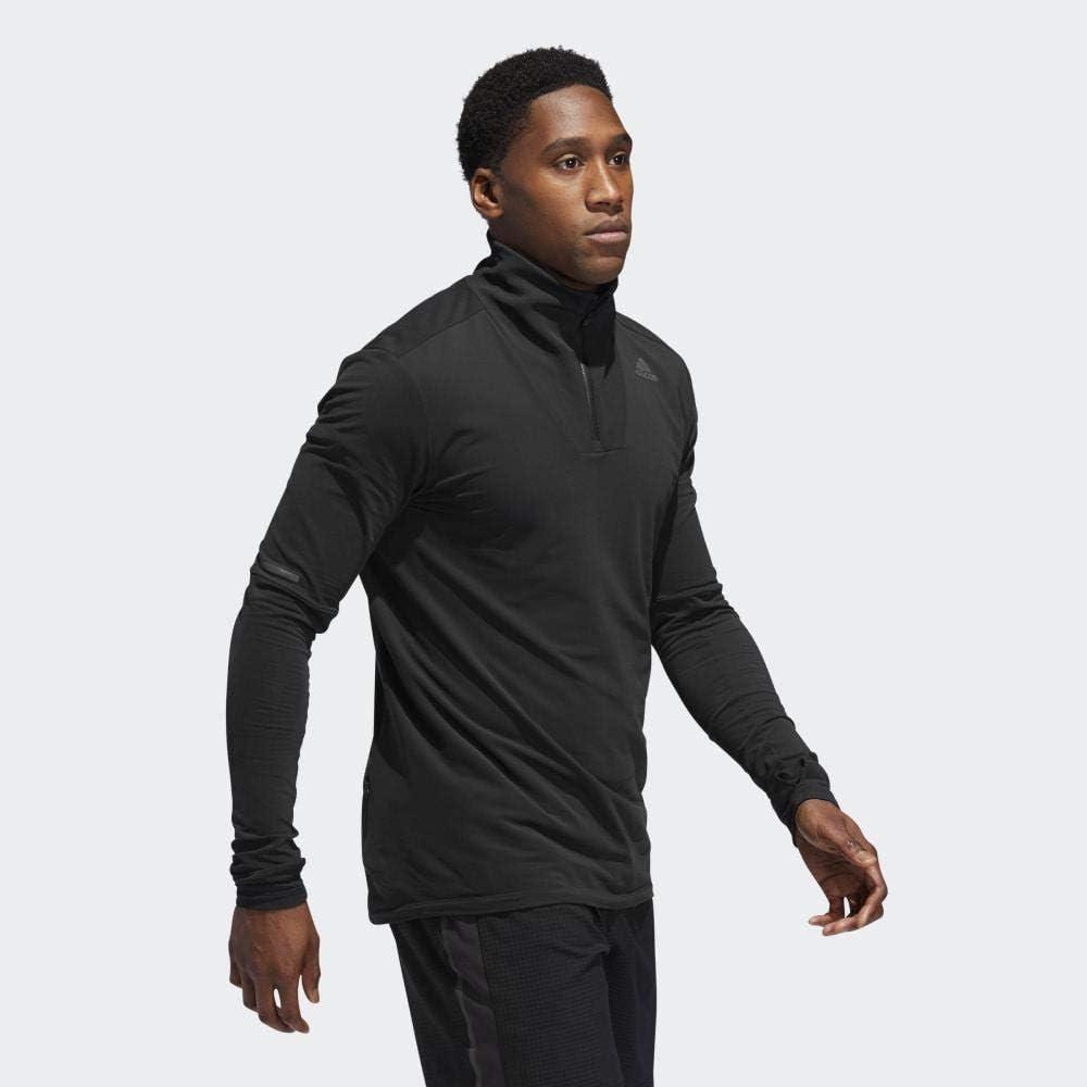 adidas Herren Supernova 1/2 Zip Shirt Schwarz (Black)