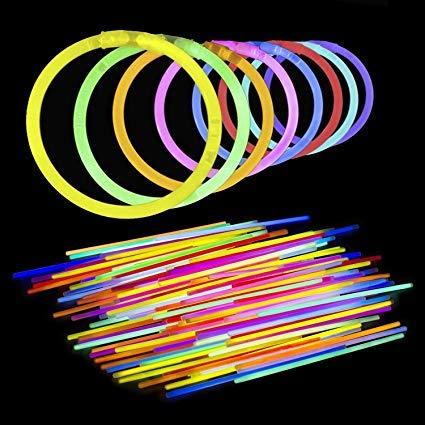 Lumistick 10 Inch Glow Sticks - Glow Sticks Bracelet with Connectors - Glowstick Bundle Party Bracelets