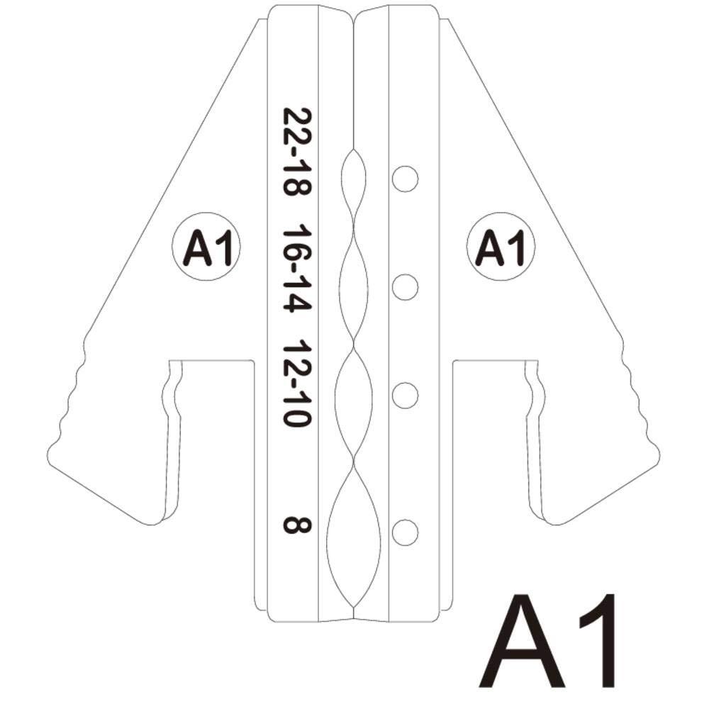 TOOLCRAFT 1423366 Crimpeinsatz Schrumpfschlauchverbinder 0.5 bis 10 mm/² Passend f/ür Marke TOOLCRAFT 1423556