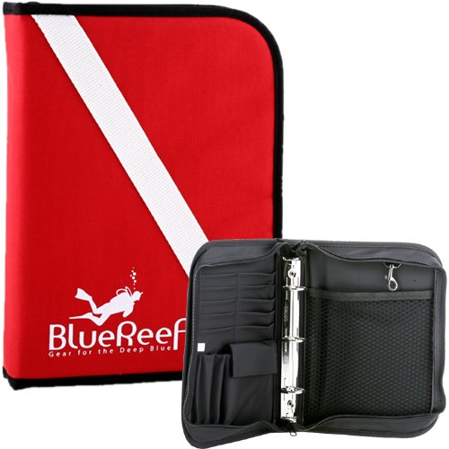 (Blue Reef Dive Flag Zippered Dive Log Binder Organizer )
