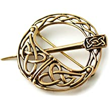 Bronze Tara Filigree Celtic Knot Brooch and Pins Norse Irish Vintage Thailand Made Jewelry