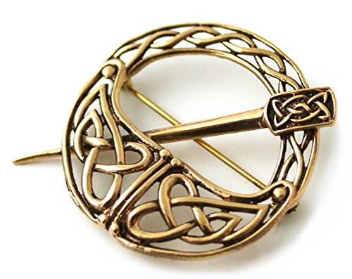 Bronze Tara Filigree Celtic Knot Brooch and Pins Norse Irish Vintage Thailand Made Jewelry (Brooch V.2) -
