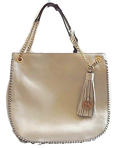 Michael Kors Ecru Leather Whipped Chelsea Lg TZ Shoulder - Chelsea Michael Handbag Kors