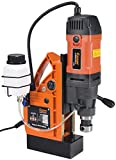 """Cayken SCY-42HD 1.65"""" Magnetic Drill Press with 1700W 450 RPM Variable Speed Motor, Weldon Shank, 3500 LBS Magnetic Force"""
