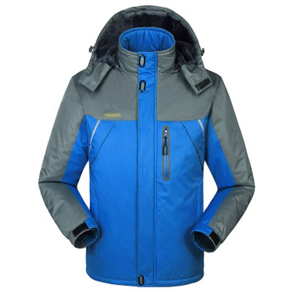 SHR-GCHAO Outdoor Sport Jacke Plus Samt Wasserdicht Wear-Resistant atmungsaktiv Winter-Radfahren Ski Sport Wandern,Blau,5XL