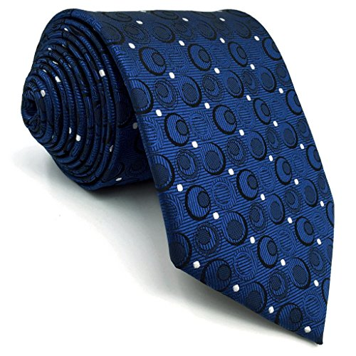 Navy Blue Silk Necktie (Shlax&Wing Navy Blue Neckties Silk Men Ties Business Set 57.5