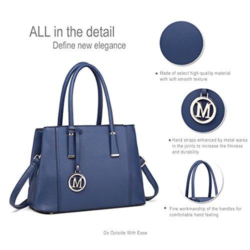 Design Handbag 1748 Blue Top Fashion Shape Handle for Elegant Miss Women Lulu Look V Handbags Leather Shoulder nan8YZqS
