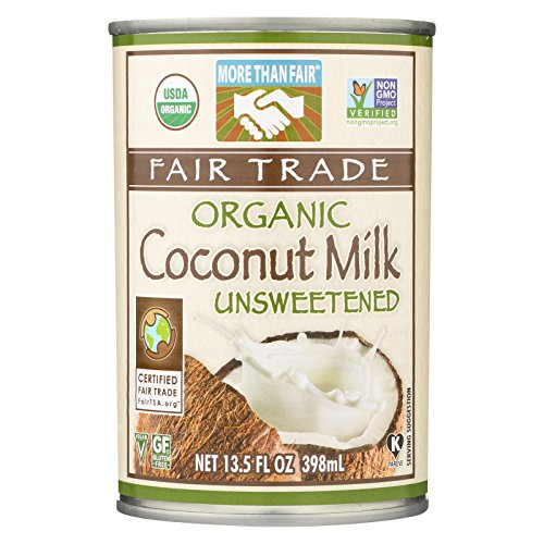 More Than Fair Organic Coconut Milk - Classic Unsweetened - Case of 12 - 13.5 Fl oz. by More Than Fair