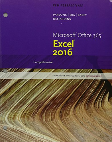 New Persp.Ms.Off.365 Excel 16:Comp Pkg.