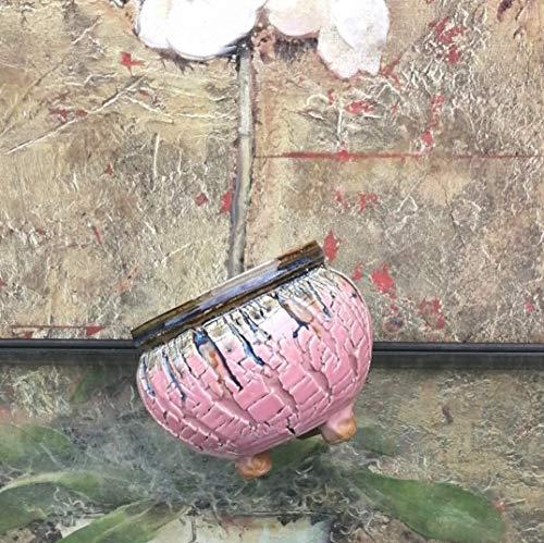 Handmade Ceramic Plant Pot with Drainage | Flower Vase Home Decor | Succulent Cactus Herb Planter 4