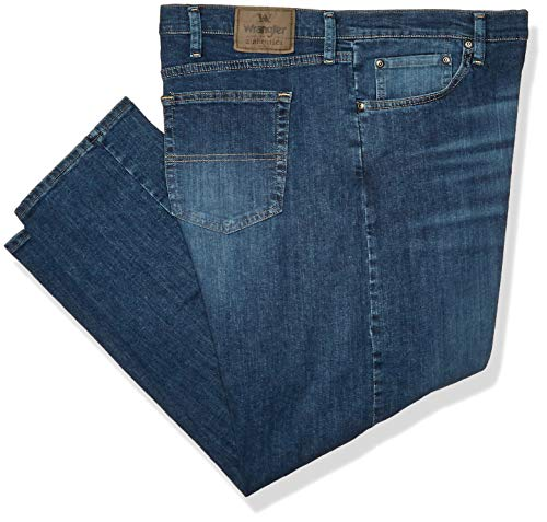 Wrangler Authentics Men's Classic Relaxed Fit Flex Jean, Slate Flex, 34W x 32L