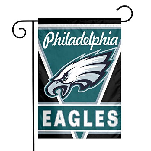 Sorcerer Custom Colorful Garden Flag Football Team Philadelphia Eagles Outdoor House Yard Flag Vertical Double Sided 12 x 18 Inches Indoor Banner Wedding Party - Eagle Flag Banner