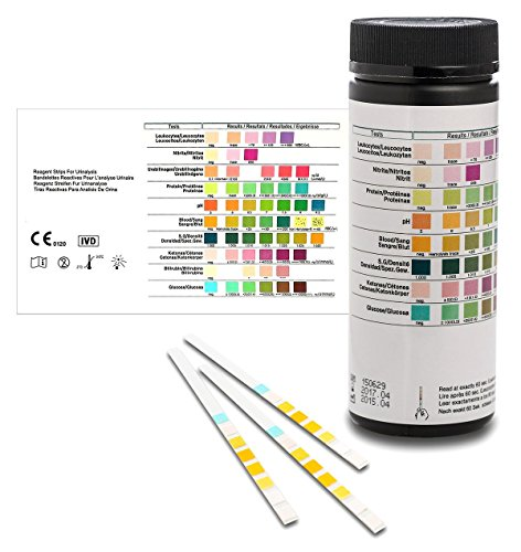 Gesundheitstest für 8 Indikatoren 100 Stück mit Referenzfarbkarte