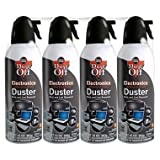 Dust-Off Compressed Gas Duster, Pack of 4
