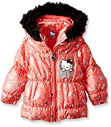 Hello Kitty Baby Girls\' Outline Face Jacket, Apricot, 12 Months