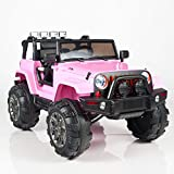 remote control big foot truck - Kids 12V Battery Operated Ride On Jeep Truck with Big Wheels RC / Remote Control, Pink