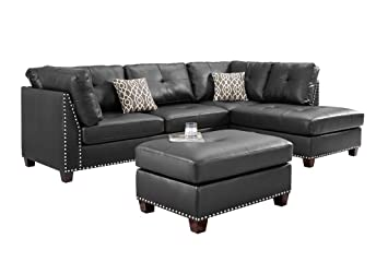 Amazon Com Sectional Sofa Sets Faux Leather Linen Fabric With