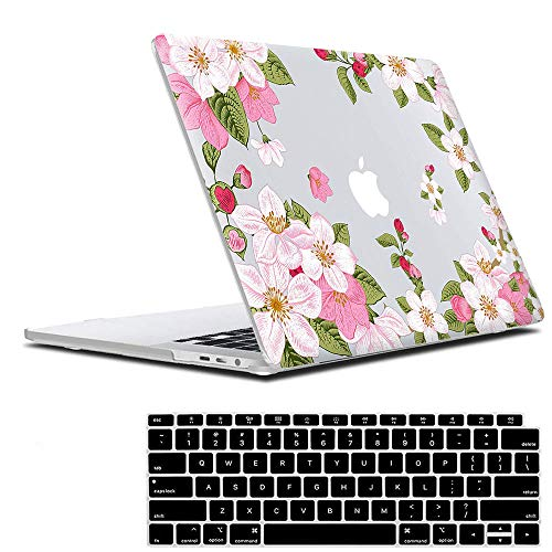 Lapac MacBook Air 13 Inch Case 2020 2019 2018 Release A1932 A2179, Pink Clear Cherry Flower Hard Shell Case & Retina Display Fits Touch ID with Keyboard Cover(Cherry(A1932/A2179))