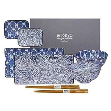Tokyo Design Studio Kiku Shibori Sushi Set De Vaisselle Sushi 8