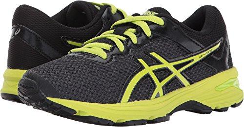 Price comparison product image ASICS Unisex-Kids GT-1000 6 GS Running Shoe, Black/Energy Green/Silver, 4 Medium US Big Kid
