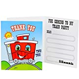 2nd Birthday Train Party Supplies - Thank-You Notes (8)