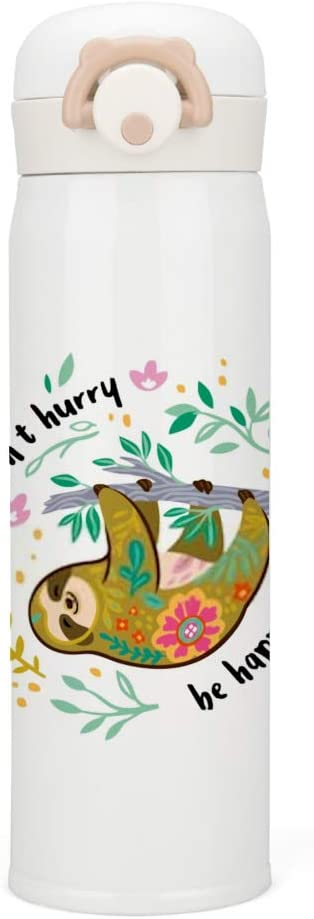 Top Carpenter Water Bottle Vacuum Insulated Stainless Steel Happy Lazy Sloth Portable Thermos Mug Tumblers for Men Women Kids