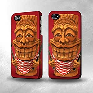 Apple iPhone 4/4S Case - The Best 3D Full Wrap iPhone Case - Chef Tiki