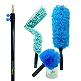 #4: EVERSPROUT Duster 3-Pack with Pro-Pole (18-20 Foot Reach) | Hand-packaged Cobweb Duster, Microfiber Feather Duster, Flexible Microfiber Ceiling & Fan Duster | 12-Foot Aluminum Extension Pole (3-Stage)