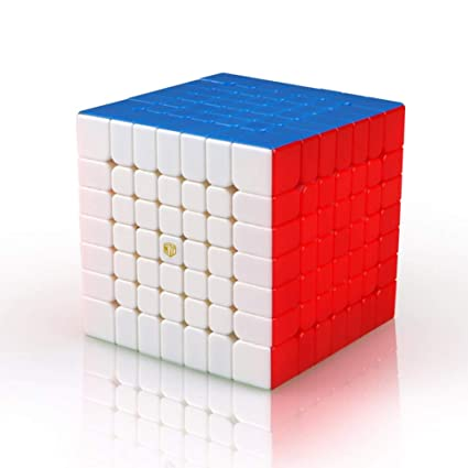 Alician 7x7 Magic Cube Puzzles Toy for Developing Kids Intelligence Semi-Bright Colors