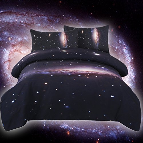 Sleepwish Galaxy Duvet Cover Kids Space Double Duvet Cover Set Bedding Sets Full (Double Bedding Set)