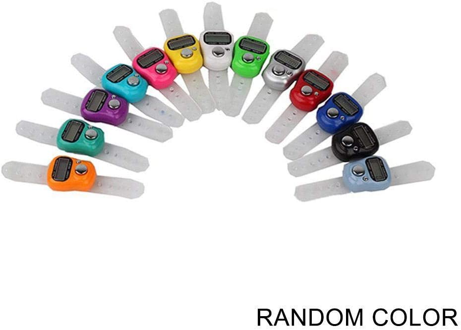 Digit Digital LCD Electronic Finger Hand Ring Knitting Row Tally Counter