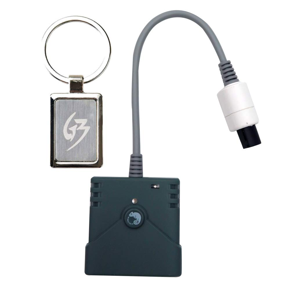 Mcbazel Brook PS3 PS4 Controller to Sega Dreamcast Super Converter Gaming Adapter with Gam3Gear Keychain