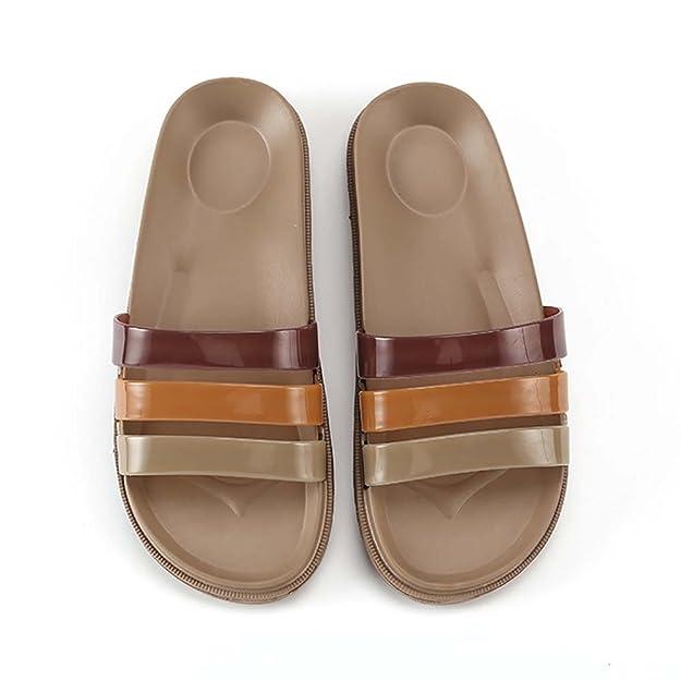 Tocploud Pantofole da Bagno Uomo Sandalo da Donna Antiscivolo Causali da Bagno Interni a Bordo Piscina S58BME