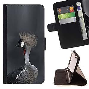 BullDog Case - FOR/LG G3 / - / bird fur grey hair head nature gray /- Monedero de cuero de la PU Llevar cubierta de la caja con el ID Credit Card Slots Flip funda de cuer