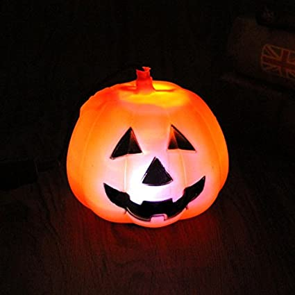 Portable LED Battery Operated Flash Light Pumpkin Lantern Halloween Costumes Lamp Decor Toys Party BY HittecH (4)