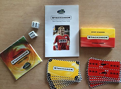 Speed Stacks Stackdeck Sport Fitness Cards- Official Speed Stacking Game with Stack Deck Video for Projecting Cards in Big Groups!