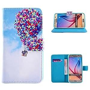 Para Galaxy S6 , ivencase Colorido Encantadora Retro Magnético PU Cuero Stand Poco Bolsillo Tarjeta Titular Flip Cartera Cubierta Funda Case Cover Para Samsung Galaxy S6 SM-G920