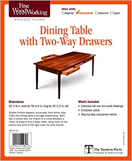Fine Woodworking S Dining Table With Two Way Drawers Plan Editors