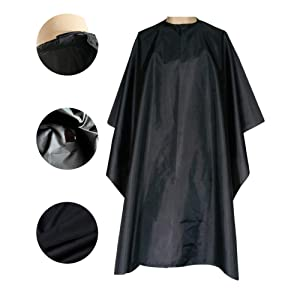 """Magiczone Nylon Waterproof Professional Salon Cape with Snap Closure Hair Salon Cutting Cape Barber Hairdressing Cape - 59"""" x 51"""", Pack of 1"""