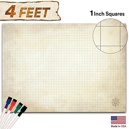 Battle Grid Game Mat Distressed product image