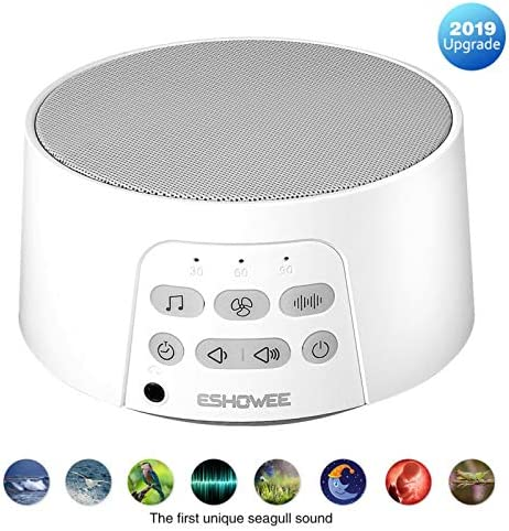 White Noise Machine – ESHOWE Sleeping Sound Machine with Baby for Sleeping Relaxation, 24 Soothing High Fidelity Nature Sounds, Portable Sleep Sound for Home, Office or Travel