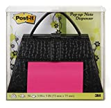 Post-it Notes, Pop-up Purse Dispenser, 3 x 3 Inches , Black (PD-654-US)