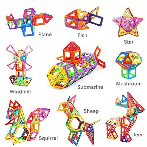 JohnCalbe 109pcs Big Size Magnetic Designer Blocks Plastic Building & Construction Toys Magnetic Tiles Set Educational Toys for Children by JohnCalbe (Image #3)