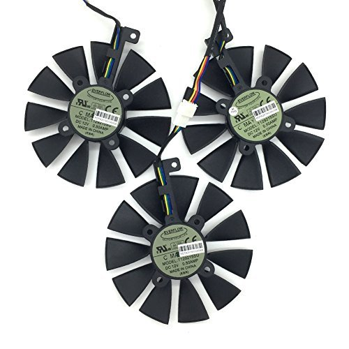 3 Pcs/lot T129215SU Cooling Fan for Video Card ASUS STRIX GTX980Ti/R9 390X/R9 390 by Actor