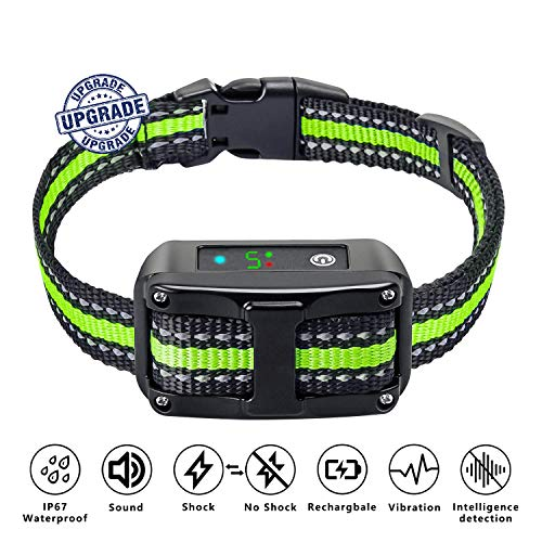 [Newest 2019] Dog Bark Collar, Dual Anti-Barking Modes, No Barking Control Dog Shock Collar, Suitable for Small and Medium Dogs