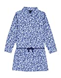 Nautica Girls' Floral Print Chambray Shirtdress