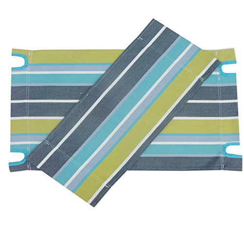 Zew Replacement UV Treated Color Durable Canvas for Bamboo Folding Directors Chairs, Striped -